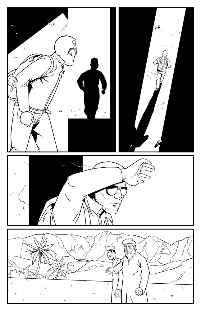 SACRIFICE, Issue 1: page 5 art by Kevin Warren