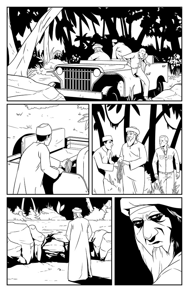 SACRIFICE, Issue 1: page 8 art by Kevin Warren