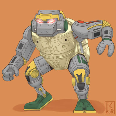 Fan art of Metal Head from the original TMNT series